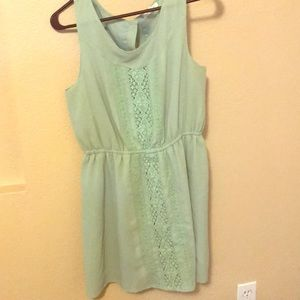 ModCloth pastel dress with lace front.